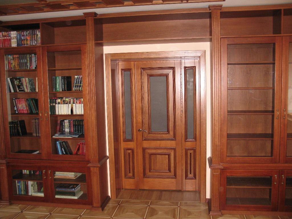 Библиотеки из массива дерева фото.