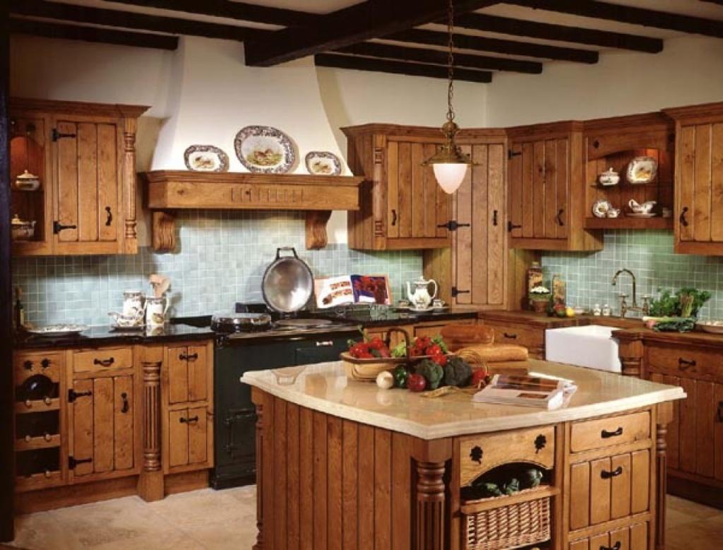 Интерьер кухни в деревенском стиле фото своими руками